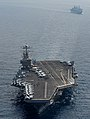 Flickr - Official U.S. Navy Imagery - USS Abraham Lincoln and RFA Fort Victoria transit the Arabian Sea. (1).jpg