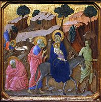 Flight into Egypt - Maestà by Duccio - Museo dell'Opera del Duomo - Siena 2016.jpg