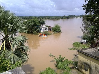2009 India floods - ODRAF Rescue team in action