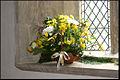 Flower display in St Andrew's Church, West Deeping.jpg