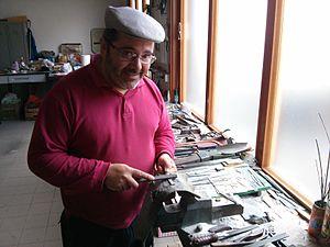 Pattada - A craftsman making a knife in Pattada