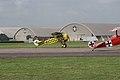 Fokker D.VIII Lt See Gotthard Sachsenberg Taxi Out 01 Dawn Patrol NMUSAF 26Sept09 (14599895805).jpg