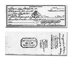 William R. Wilkerson - Partial payment to Margret Folsom for the Flamingo land signed by William R Wilkerson, March 5, 1945