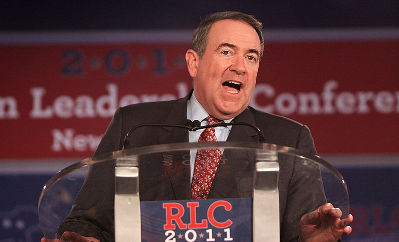 Former Governor Mike Huckabee speaking at the 2011 Republican Leadership Conference in New Orleans, Louisiana.jpg