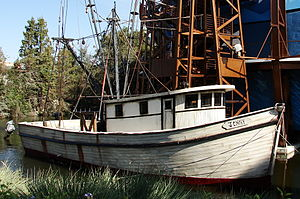 English: The Jenny shrimping boat from the fil...
