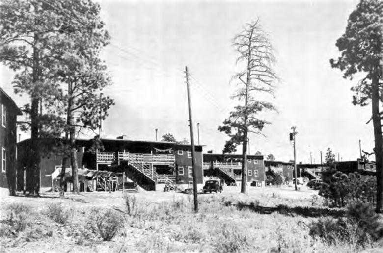 Four-family apartment units at Los Alamos