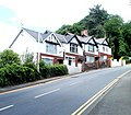 Four houses on a bend in Park Road, Pontypool - geograph.org.uk - 2429719.jpg