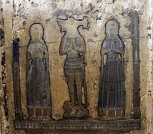 Monumental brass - English group, 1378