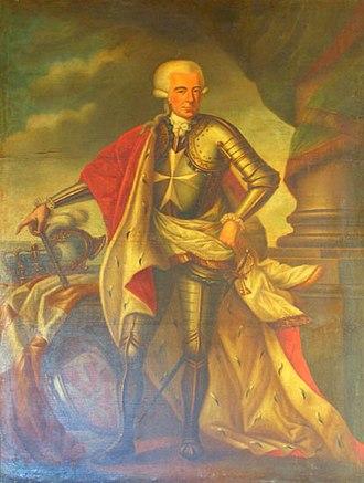 French invasion of Malta - Painting of Ferdinand von Hompesch zu Bolheim, the last Grand Master to rule Malta