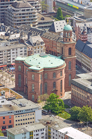 St. Paul's Church, Frankfurt am Main - The Paulskirche as seen from the Main Tower.