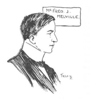 Fred Melville - Fred Melville, as pictured in Gibbons Stamp Weekly, February 1905, at the time of the Junior Philatelic Exhibition.