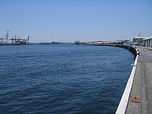 Fremantle Harbour - View north-east along  Victoria Quay