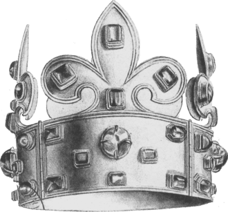 Crown of Charlemagne - The « Crown of Charlemagne » from 1271, used as French coronation crown from 875 or 1590 to 1775.