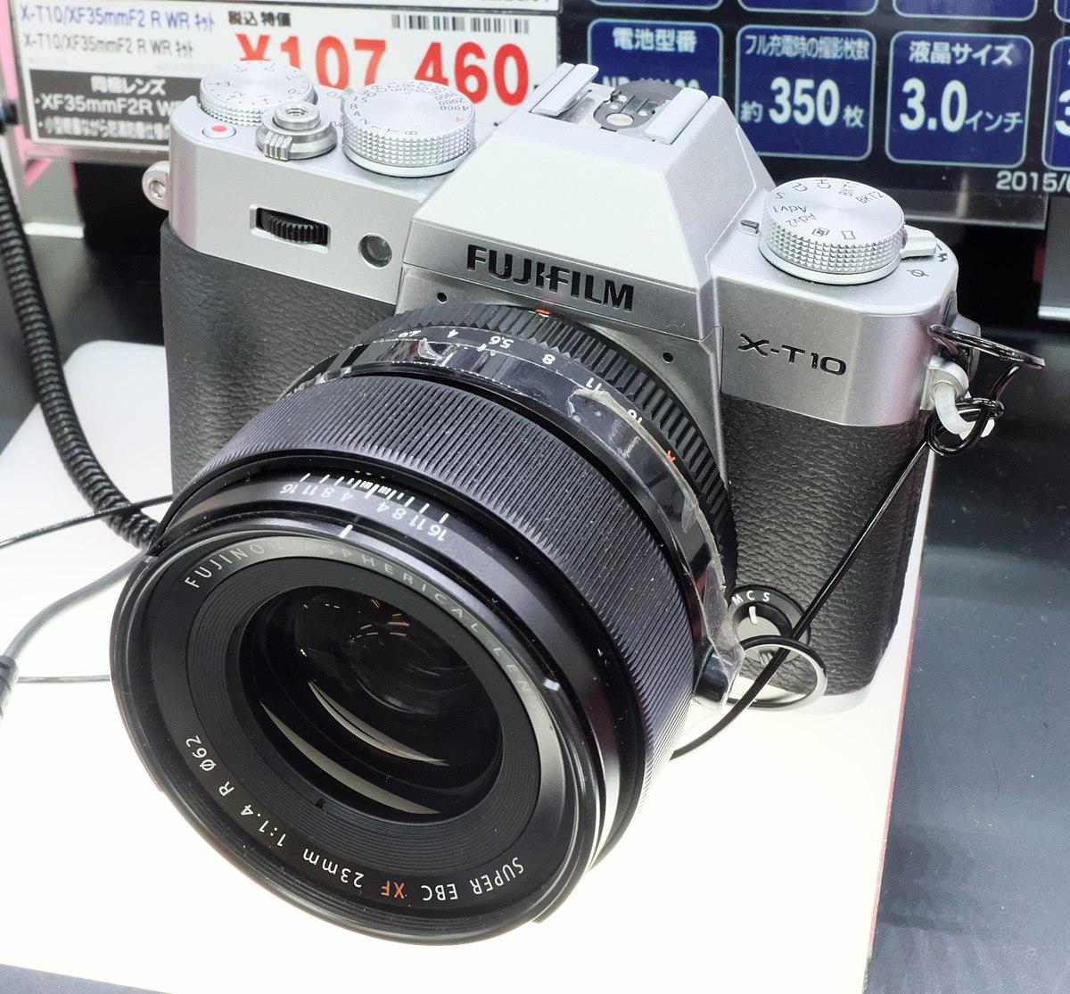 Fujifilm X T10 Wikipedia T100 Body Xf35mm F2 Black Kamera Mirrorless