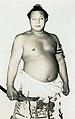 Futabayama holding the yokozuna sword 001.jpg