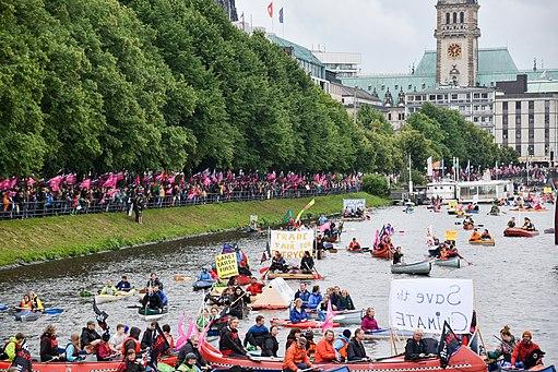G20-Protestwelle Hamburg Bootsdemo 06