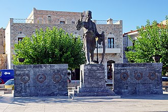 Petrobey Mavromichalis - A monument of Petros Mavromichalis in Areopoli
