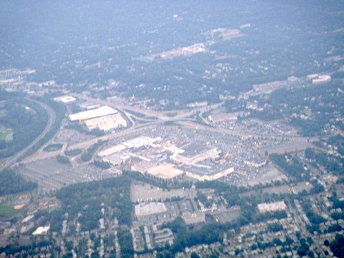Aerial view of garden state plaza for Lord and taylor garden state plaza