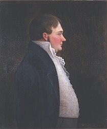 Gabriel Lund, maleri av Ole Peter Hansen Balling, Eidsvoll 1814, EM.01555 (cropped).jpg
