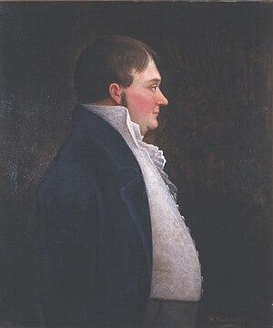 Gabriel Lund - Image: Gabriel Lund, maleri av Ole Peter Hansen Balling, Eidsvoll 1814, EM.01555 (cropped)