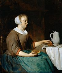 A Young Lady at Breakfast