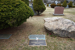 Photo of Gary Cooper's grave