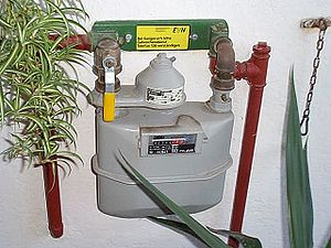 Utility submeter - A residential gas meter