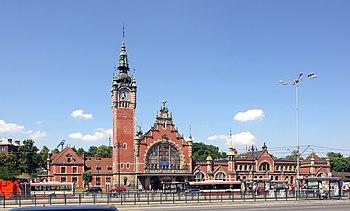 Gdańsk Main Railway Station. Français : La gar...