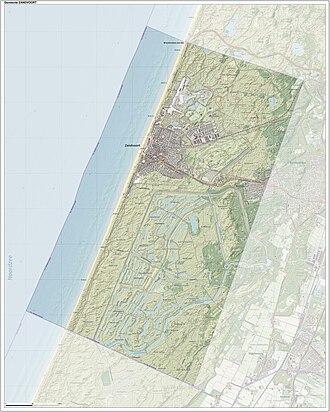 Zandvoort - Dutch Topographic map of Zandvoort, Sept. 2014
