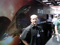 EVE Online booth and representative at Gen Con Indy 2007.