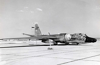 Martin/General Dynamics RB-57F Canberra - RB-57F Rivet Chip 63-13296 of the 58th Weather Reconnaissance Squadron at Webb AFB, Texas on 8 March 1965.