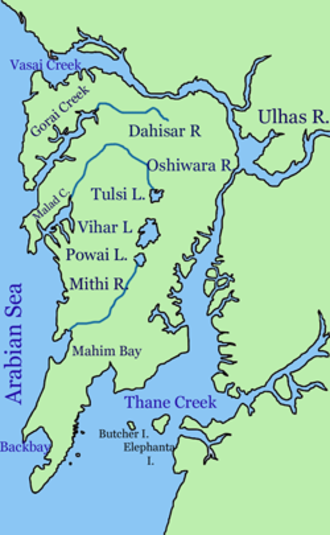 Geography of Mumbai - Rivers and lakes of the city.