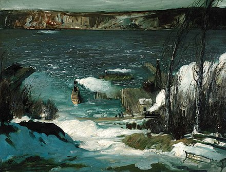 North River by George Bellows, 1908, Pennsylvania Academy of the Fine Arts George Bellows - North River (1908).jpg