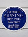 George Gissing 1857-1903 Novelist lived here 1882-1884.jpg