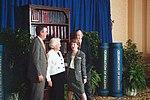 George H. W. Bush, Barbara Bush, and Jeb Bush with Glenda Hood.jpg