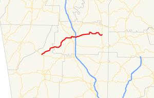 Georgia State Route 156 - Image: Georgia state route 156 map