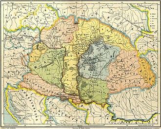 History of Transylvania - Image: Gesta hungarorum map
