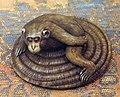 Giappone, periodo edo, netsuke (fermaglio per inroo), xix secolo, 203 scimmia.jpg
