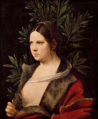 Giorgione - Laura (1506)  Kunsthistorisches Museum, Vienna, Austria.