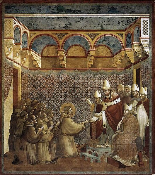 پرونده:Giotto di Bondone - Legend of St Francis - 7. Confirmation of the Rule - WGA09128.jpg