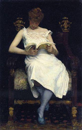 Edward Simmons (painter) - Image: Girl Reading, 1893 Edward Simmons