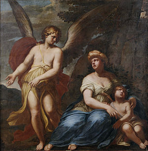 Giuseppe Diamantini - Angel Shows Hagar and Ishmael the Way to Saving Fountain (1705)