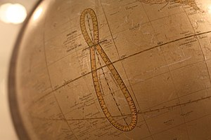 Analemma - Analemma with date marks, printed on a globe, Globe Museum, Vienna, Austria