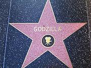 Godzilla's star on the Hollywood Walk of Fame.