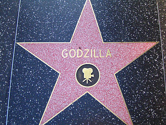 Godzilla - Godzilla's star on the Hollywood Walk of Fame
