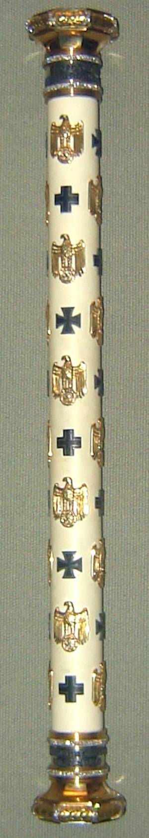 Reichsmarschall - The original baton of Reichsmarschall Hermann Göring shown in the West Point Museum