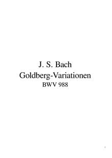 fichier : partition des variations Goldberg en pdf