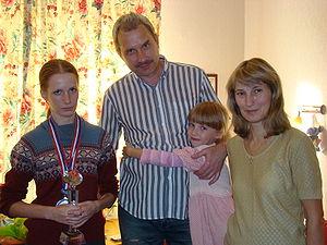 Valentina Golubenko - Golubenko family: Valentina, Valery, Valentina's sister Alexandra, Anastasia