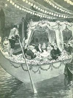 Savoy Hotel - Gondola party, 1905