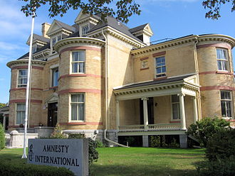 Amnesty International - The Amnesty Canadian headquarters in Ottawa.